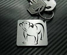 BRITISH BULL DOG Breed Dog English Pedigree Breeder Keyring Keychain Key Fob
