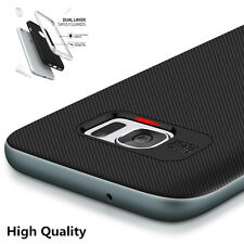 Luxury Carbon Fiber Silicone protective cover case for Samsung galaxy S6 S7 edge