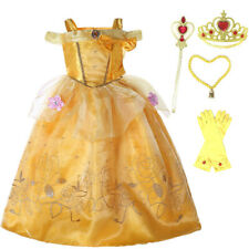 Beauty And the Beast Princess Belle Childrens Girls Fancy Dress Costume Outf  UK