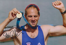 """Sir Steve Redgrave signed 12x8"""" rowing photo / proof COA"""