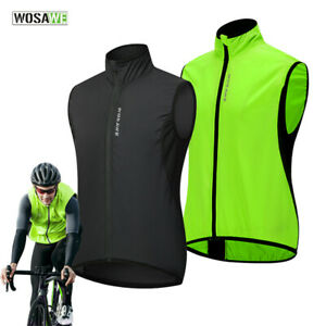 Windproof Cycling Vest Water Repellent Bike Riding Sleeveless Jacket MTB Tops