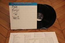 The Wall Pink Floyd Rock 1st Press LP 33t Vinyl Vinyle + OBI Japan 40AP 1750~1