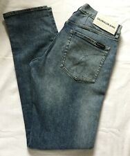 Men's CALVIN KLEIN slim fit blue denim JEANS. W32 L34. CKJ 026