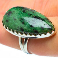 Large Ruby Zoisite 925 Sterling Silver Ring Size 8 Ana Co Jewelry R29822F