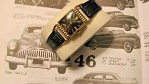 Vintage 1946 Elgin 559 Lord Elgin Drivers Watch 21 Jewel  -Serviced