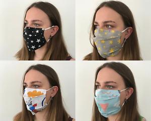 Face Mask Washable Reusable Fashion Unisex 100% Cotton
