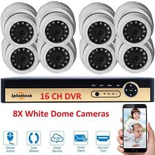 1080N 16CH DVR Record CCTV Home Security IR-CUT 8Dome Camera H.264 System HD Kit