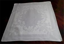 Gorgeous Set 8 Vintage Linen Damask Napkins Chrysanthemum 22""