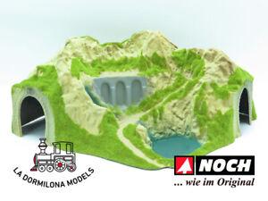 NOCH 05120 - H0 Túnel curvado de 1 vía decorado - NUEVO