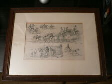 C C Henderson (1803-1877) ETCHING 1840's Royal Mail Coach NOT A MODERN COPY.