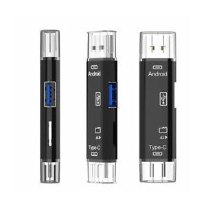 5 in 1 USB 3.0 Type C / USB C OTG Micro USB OTG SD TF Memory Card Reader Adapter