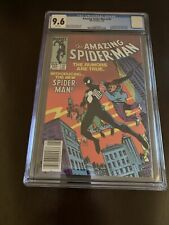Amazing Spider-Man #252 CGC 9.6 Newsstand NM+ White Pages 1st Black Costume App