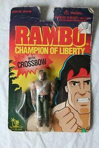 Vintage John Rambo Action Figure Champion of Liberty Toy Island 1995 MOC NEW