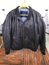 Tommy Hilfiger Faux Leather Bomber Jacket Coat BrownMens XL