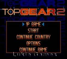 Top Gear II 2 - SNES Super Nintendo Game
