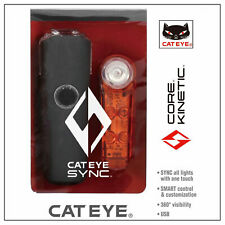 Cateye Sync Core & Kinetic Front/Rear Light LED Set