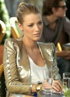 New Emilio Pucci Gold Sequin Gossip Girl Dress Blazer  Jacket US 4 6 / IT 42