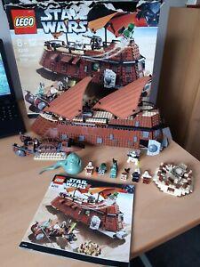 Lego 6210 Star wars Jabba's Sail Barge Set minifigures VGC box instructions