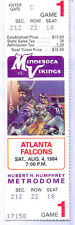 Minnesota Vikings Atlanta Falcons 8/4/84 Full Unused Ticket