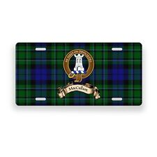 MacCallum Scottish Clan Novelty Auto Plate Tag Family Name License Plate
