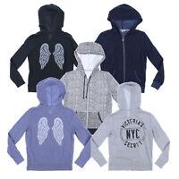 Victoria's Secret Sweatshirt Hoodie Angel Full Zip Up Bling Graphic Logo Vs New