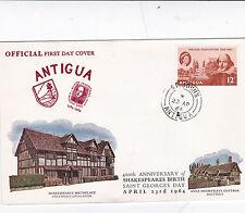 Antigua 1964 Shakespeare 400th birth centenary Unadressed FDC