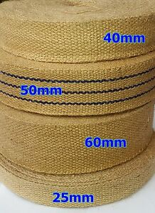 100% NATURAL JUTE WEBBING STRAPPING TAPE STRAP WEDDING DECOR CANVAS