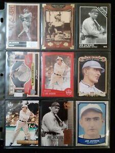 (9) Different Shoeless JOE JACKSON Baseball Cards Lot CHICAGO WHITE SOX