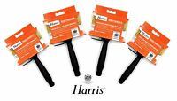 "4 Pack Harris Emulsion Paint Brush Block Masonry Brushes 4.5"" Wide Wall DIY"