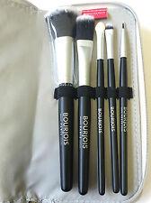 BOURJOIS 5 piezas pincel de maquillaje Colorete Base Sombra de Ojos labio y Plata Caso