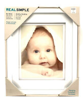 """Real Simple White Picture Frame, White Wood, 8"""" X 10"""" Photo Opening"""