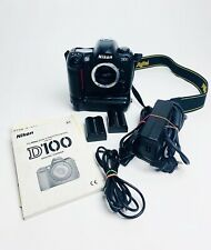 Nikon D100 6.1 MP Camera - Black (Body Only) - W/ Battery Grip, Batteries+Cords