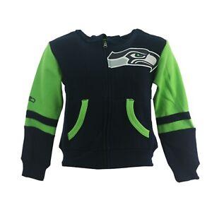 Seattle Seahawks Official NFL Children Youth & Kids Size Full Zip Sweatshirt New