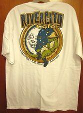 RIVER CITY CAFE lrg T shirt Murrells Inlet gator logo tee Myrtle Beach hamburger