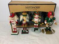 Vintage Nutcracker Village Sport Ornaments Set of 4