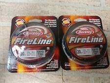 2x Berkley fireline fused 125 yards fishing line 20lb BFLFS20-42 (250 yds total)