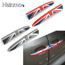 Red Union Jack UK Flag Car Rear Door Handle Covers For MINI Cooper Clubman F54