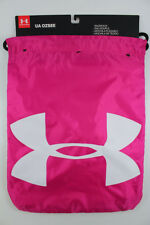 UNDER ARMOUR UA OZSEE SACKPACK PINK/BLACK/WHITE DRAWSTRING GYM BAG BACKPACK NEW
