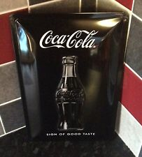 Large Coca-cola Bottle Advertising Sign. Shabby Chic Look.