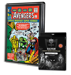 1 Max Pro UV Silver Comic Book Premium Showcases Wall Mountable Display Frame