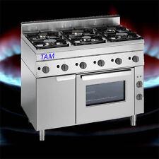 6 Flammen Gasherd mit Elektro Backofen  Snack TAM-SGBG1050