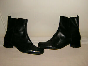 Size 8D Black 1.5inch Heel Zip Fasten CLARKS Non Slip Sole Ankle Boots V/G/COND