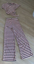 Ladies Co Ord Suit Size Small/medium New Without Tags