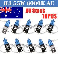 10x H3 12V 55W Car Xenon White 6000k Head Light Lamp Globes Bulb Halogen Fog NSW