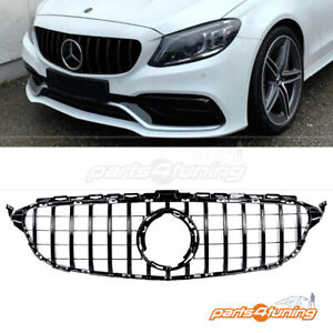 MERCEDES BENZ C-CLASS W205 2018+ FRONT GRILLE BLACK PANAMERICANA GT STYLE