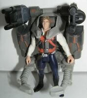 """Star Wars Deluxe Han Solo 1996 Power of the Force 2 POTF2 3-3/4"""" Scale"""