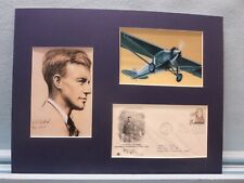 Charles Lindbergh Flies the Atlantic & First Day Cover of his own stamp