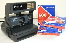 Polaroid One Step FLASH Close Up 600 Instant Film Camera with 4 Boxes Film