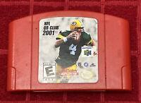 NFL QB Club 2001 (Nintendo 64) AUTHENTIC Quarterback N64 Favre