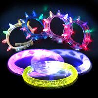 LED Spike Bracelets Glow in the Dark Light Up Bangle Bracelets for Bar Concert